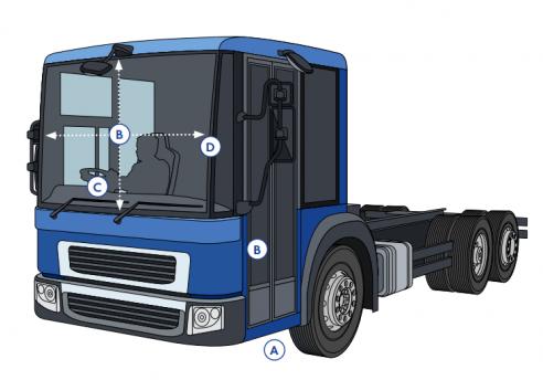 gewone vrachtwagen markering